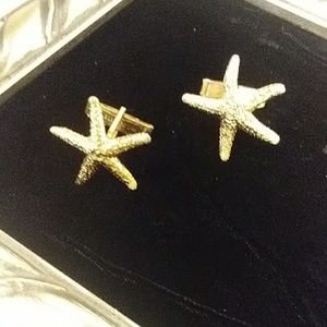 Vintage Gold Starfish Cuff Links